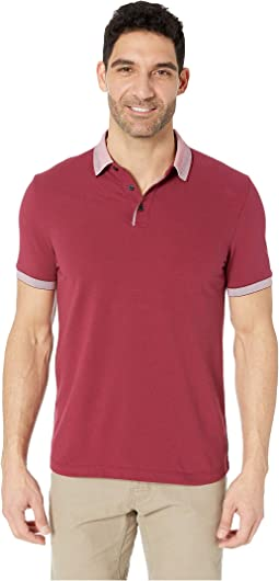 Cotton Pique Three-Button Polo