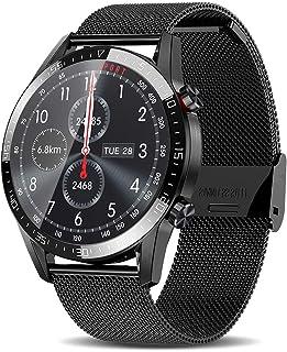 Reloj inteligente para teléfonos Android iOS, relojes inteligentes de llamadas Bluetooth, seguimiento de sueño de salud, regalo de año nuevo, reloj inteligente para hombres (negro)