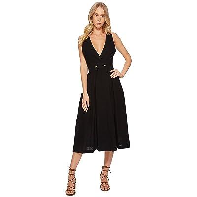 Free People Diana Wrap Dress (Black) Women