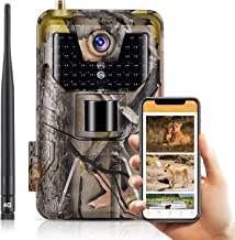 4G Cellular Trail Cameras 30MP 4k Live Video Wireless Camera for Wildlife Monitoring with 120°Detection Range Motion Activ...