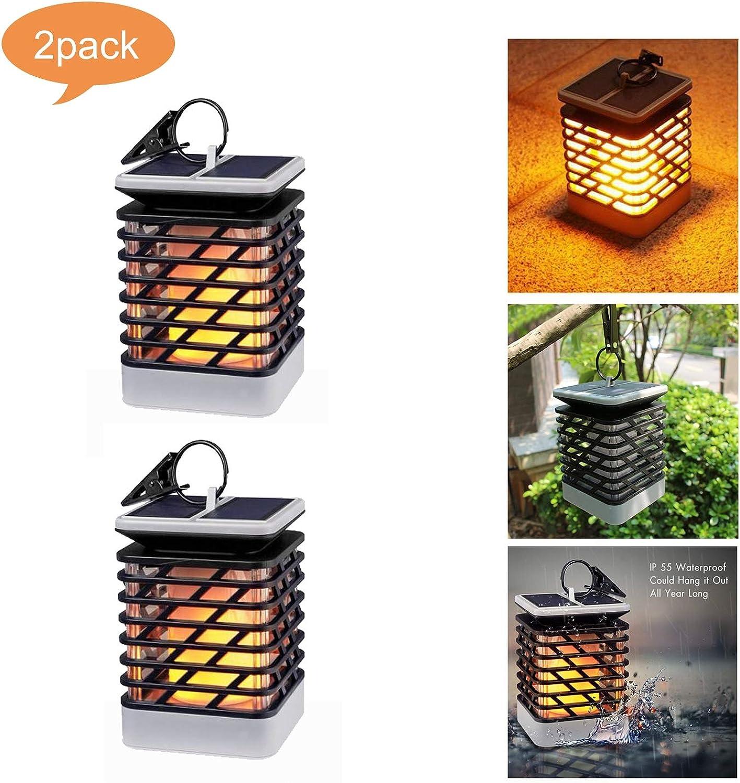 LIJUEZL Solarleuchte Garten Fackeln Outdoor75 LED Solar Flame Lampe, Outdoor wasserdichte Taschenlampe Garten Dekoration Beleuchtung