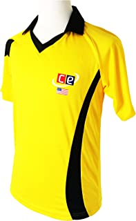 CE Colored Cricket Kit Shirts & Pants - Australian Colors Half Sleeves Cricket Jersey & Pants (Large, Shirt)