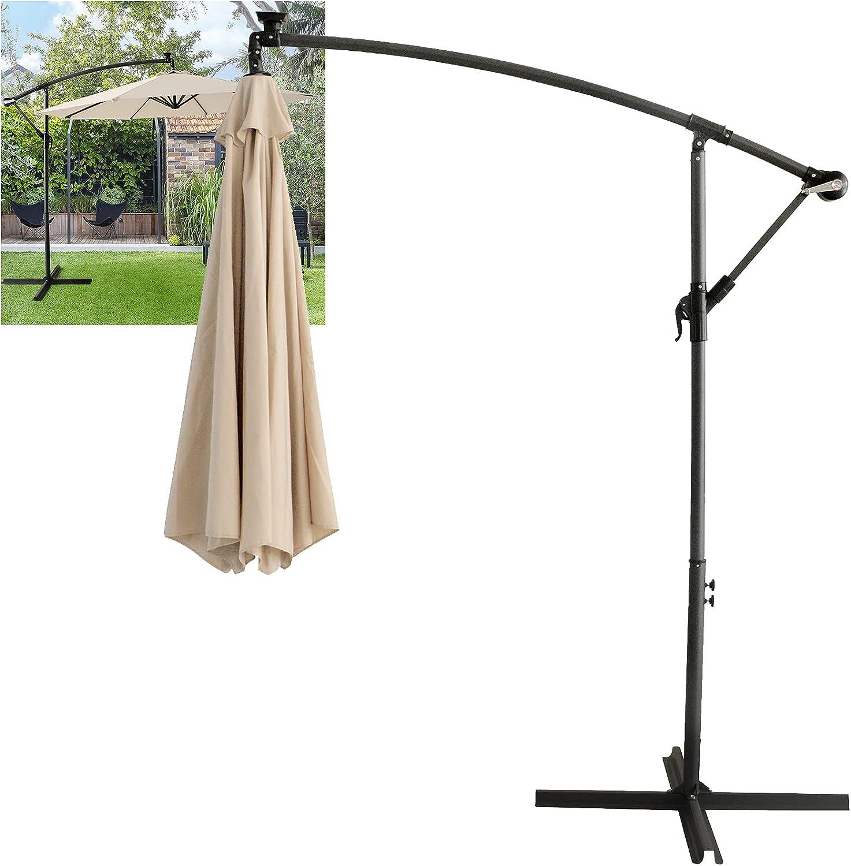 Max 64% OFF LED Lighted Solar Umbrella Popular standard patio shade Market 10Ft poo