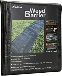 AGTEK Landscape Fabric 4x12 FT Heavy Duty Ground Cover Pack of 2