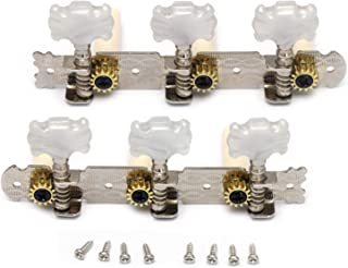 Metallor Classical Guitar Tuning Pegs Machine Heads Tuning Keys Tuners Single Hole 3L 3R Chrome.