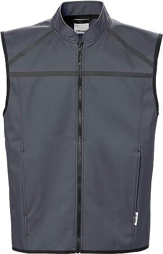 FRISTADS Fusion Veste softshell sans hommeches gris foncé Taille L   100% polyester.