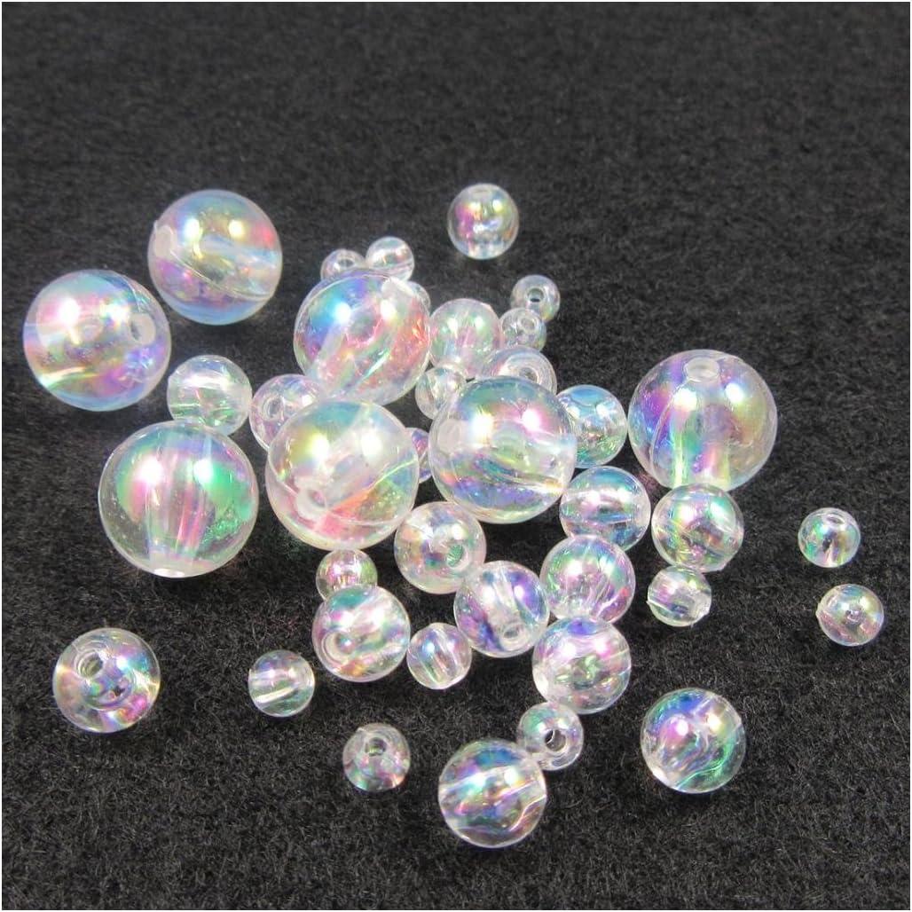 B5544 4mm x 400, Dark Blue AB Round Acrylic AB Beads 4mm 5mm 6mm 8mm 10mm *10 Colours* Beading Jewellery Craft