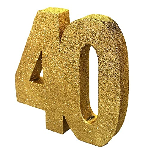 Gold Glitter Number Table Decoration