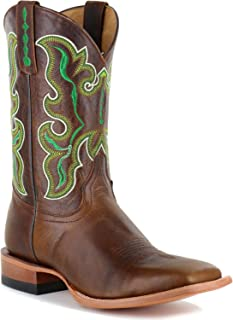 Cody James Men's Damiano Embroidered Western Boot Square Toe - Bbm156