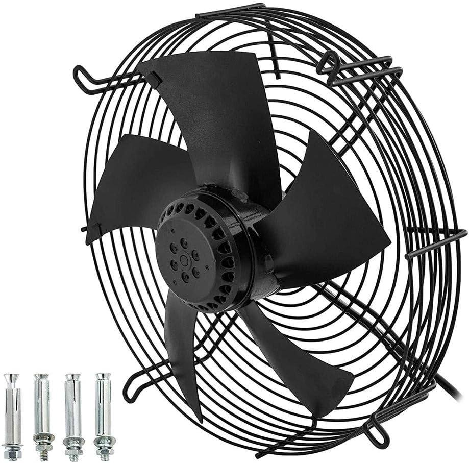 Extractor Cocina, Extractor de Baño Extractor Extractor industrial de 12 pulgadas de metal axial Ventilación profesional de aire del ventilador del ventilador 2200m3 / h aficionados inteligentes Vent