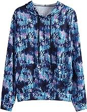 MmNote Navy Blue Tie-Dye Hoodies - Tie-Dye Hooded Sweatshirts in 3 Colors. Sizes: S-3XL