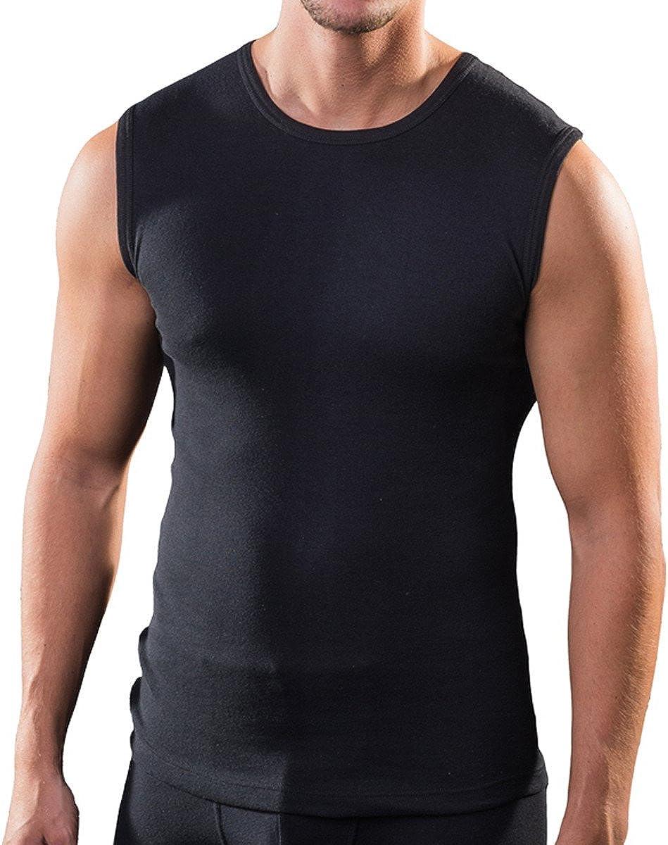 HERMKO 3040 3er Pack Herren Tank Top Unterhemd mit Rundhals-Ausschnitt aus 100/% Bio-Baumwolle