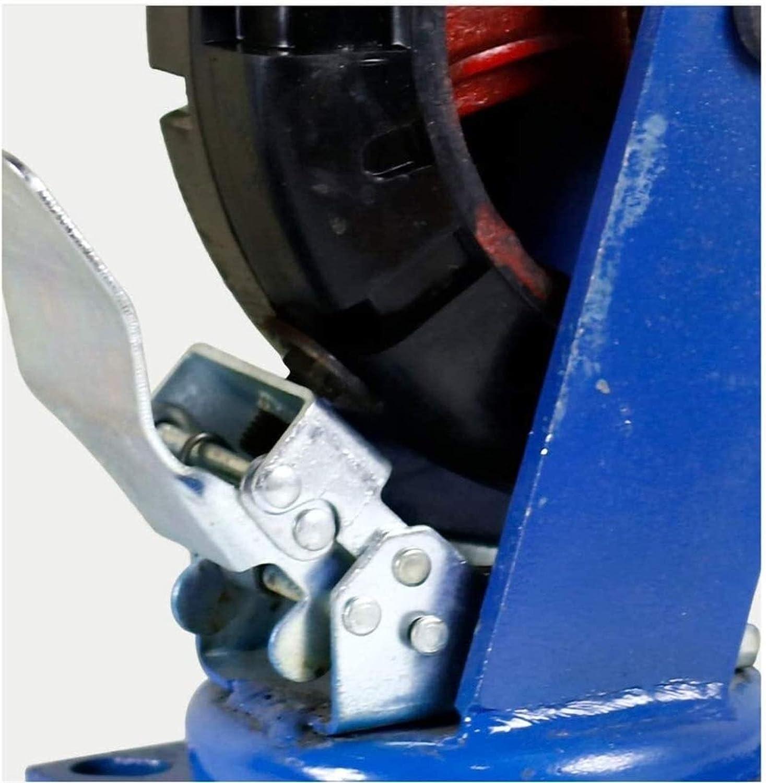 Heavy-Duty Rubber Load-Bearing 1000KG 6//8//10//12in Directional Castors//Swivel Brake for Trolleys,Flatbeds,Industrial Casters 1pcs Heavy Duty