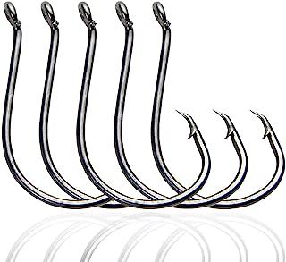 SILANON Circle Hooks Fishing Hooks Tackle- 120pcs 2X Strong Saltwater Fishing Tackle Octopus Fishing Hooks Circle Hooks Customized Offset Sport Freshwater Bass High-Carbon Steel Hooks Kit