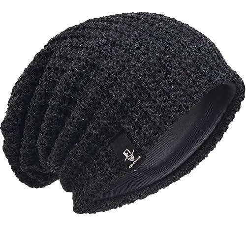Men Oversize Beanie Slouch Skull Knit Large Baggy Cap Ski Hat B08 ab279da9411