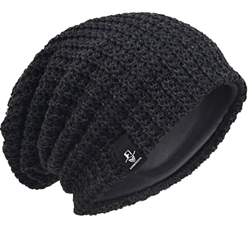 81a25b922c1 Men Oversize Beanie Slouch Skull Knit Large Baggy Cap Ski Hat B08