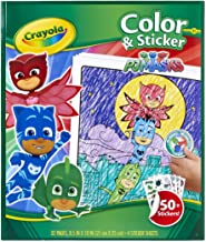 CRAYOLA 04-0077 PJ Masks Color & Sticker Book, 32 Page Coloring Book Plus Over 50 Stickers