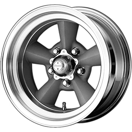 American Racing VN215 Classic Torq Thrust II 1 Pc Mag Gray Wheel with Center Polished Barrel 18x7//5x114.3mm, +6mm offset