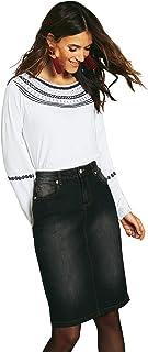 VENCA Gonna Jeans Denim Jeans Denim Taglio Elastico Taglio 5 Tasche - 010161