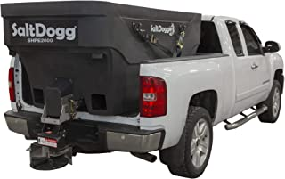 SaltDogg SHPE2000 Electric Poly Hopper Spreader 2.0 Cubic Yards Black