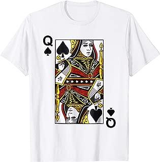 Queen of Spades Tshirt Blackjack Cards Poker 21 Q Tee shirt