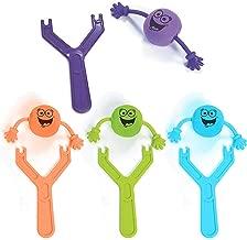 Kicko Party Favor Slingshot Toys - Pack of 4 - Finger Flinger Emoji Toys - Plastic Flying Toy for Kids Party Favor- Bag Stuffers, Fun, Party, Games, Prize, Kids Toys, etc