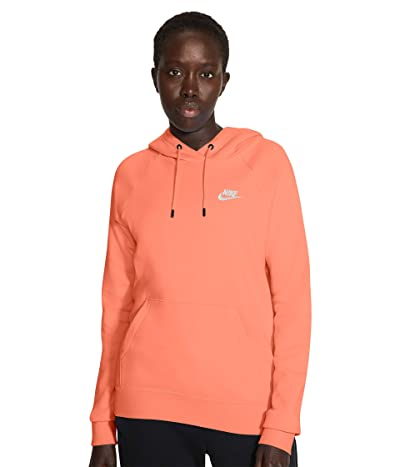 Nike NSW Essential Hoodie Pullover Fleece (Crimson Bliss/White) Women