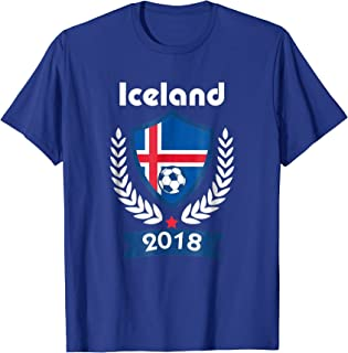 Iceland Soccer shirt Team Iceland 2018 TShirt Football