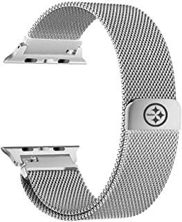 Game Time Pittsburgh Steelers Stainless Steel Mesh Band Compatible with Apple Watch - 42mm/44mm