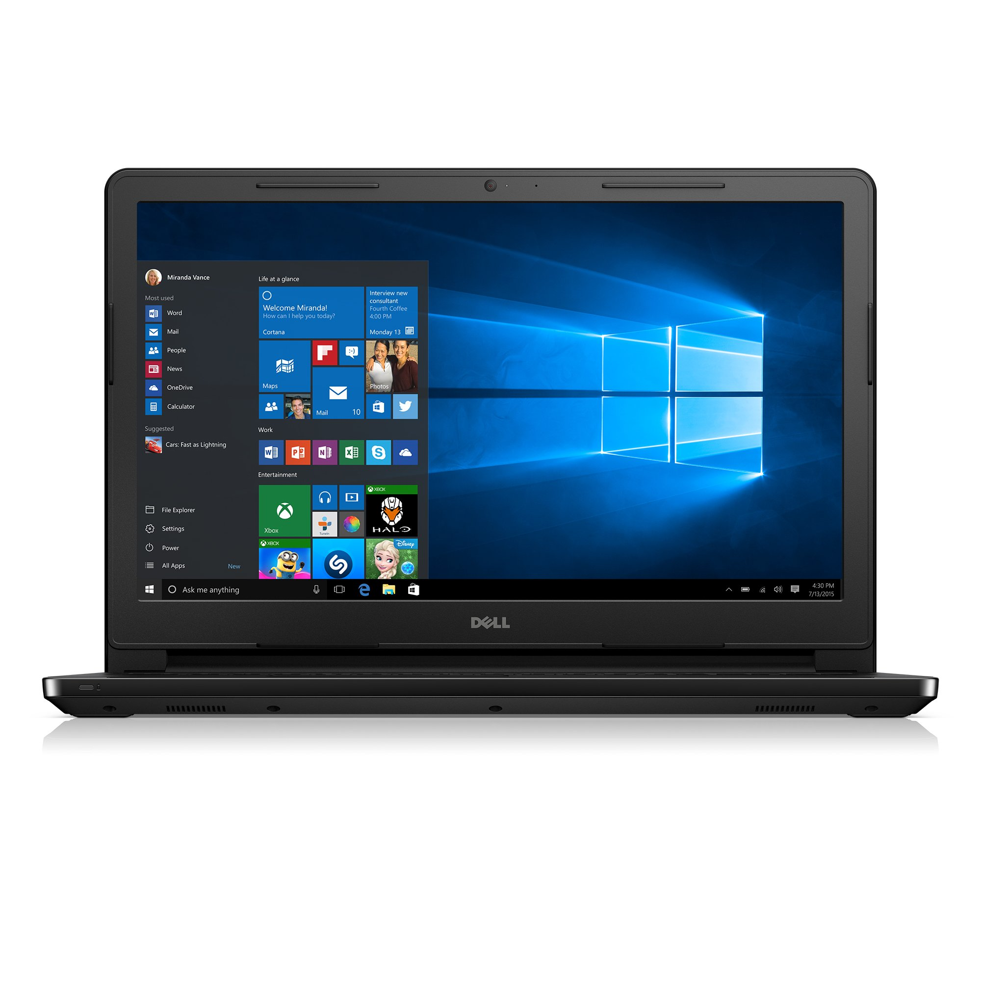 Dell Inspiron i3552-4042BLK - Ordenador portátil de 15,6 pulgadas (Intel Celeron, 4 GB de RAM, 500 GB de disco duro, negro) (teclado y conector de EE. UU.): Amazon.es: Informática