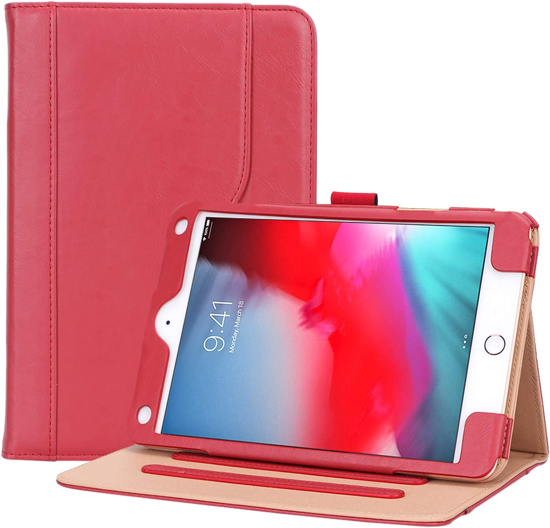 ProCase iPad Mini 5 Case 2019 / iPad Mini 4 Case 2015, Vintage Stand Folio Case Smart Cover for 7.9 Inch Apple iPad Mini 5th Generation 2019 / iPad Mini 4, with Auto Sleep/Wake –Red