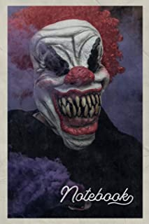 Notebook: Best Horror Movies of all Time Chic Composition Book Journal Diary for Men, Women, Teen & Kids Vintage Retro Design for notes on top 10 scary clowns