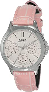 Casio Watch For Women Leather Ltp V300L 4Audf, Analog
