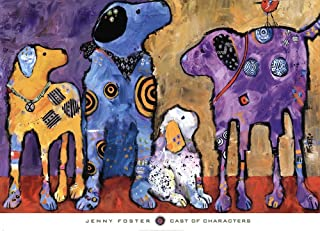 Cast of Characters by Jenny Foster Art Print, 36 x 26 inches