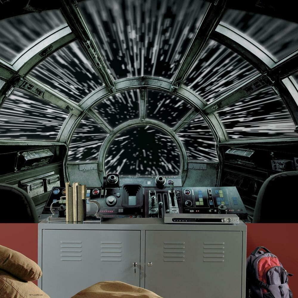 7. Star Wars Millennium Falcon Peel and Stick Wallpaper Mural