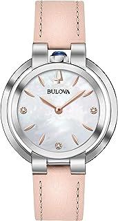 Bulova - Reloj Analógico para Mujer de Cuarzo con Correa en Cuero 96P197