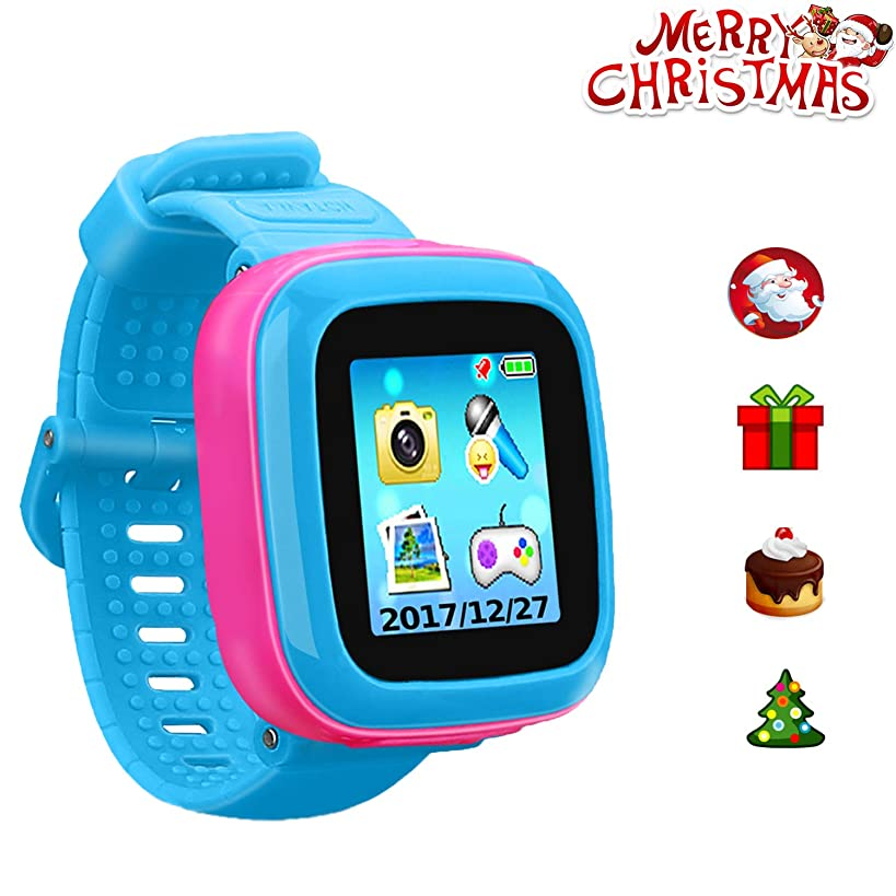 """ZOPPRI Kids Game Watch Smart Watch for Kids Children's Birthday Gift with 1.5 """" Touch Screen and 10 Games, Children's Watch Pedometer Clock Smart Watch Kids Toys Boys Girls Gift. (Joint Blue)"""