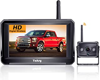 Yakry Y22 HD Digital Wireless Backup Camera 5'' Monitor Kit Hitch Rear View Camera System for RVs,Campers,Trucks,Vans IP69... photo