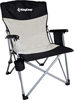 KingCamp Camping Chair Mesh High Back Ergonom with Cup Holder Armrest Pocket Headrest Breathable Folding Portable Oversize Heavy Duty, Supports 300 lbs