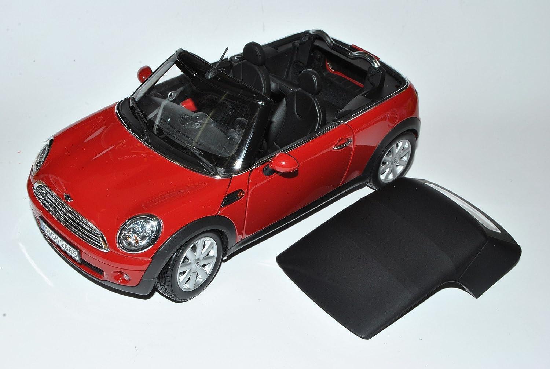Kyosho Mini Cooper Cabrio Rot R57 2008-2013 1 18 Modell Auto mit individiuellem Wunschkennzeichen