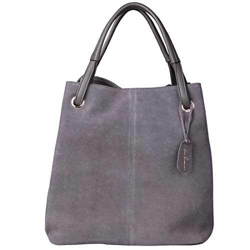 6812dcdd75 Nico Louise Women s Genuine Leather Suede Purse Shoulder Bag Casual Tote  Handbag