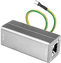Ethernet Surge Protector, Protectnet for 100/1000 Base - T Ethernet Lines, LAN Network Thunder Lighting Surge Protection.