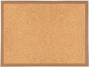 Bacheca in sughero con cornice extra-robusta in legno, per fissare annotazioni e messaggi, 600 x 400 mm