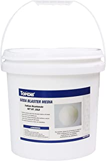 TOPENS Abrasive Soda Blaster Media 40 Mesh 20 lbs. for Sand Blast Cabinet Blasting Fine Abrasive Media Sodium Bicarbonate