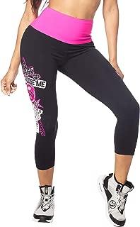 Zumba  High Waisted Athletic Cropped Leggings Workout Capri Leggings For Women