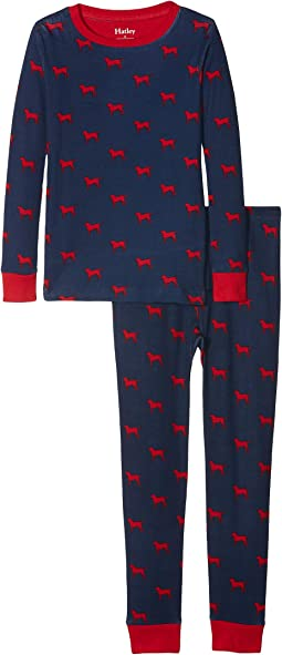 Red Labs Organic Cotton Pajama Set (Toddler/Little Kids/Big Kids)