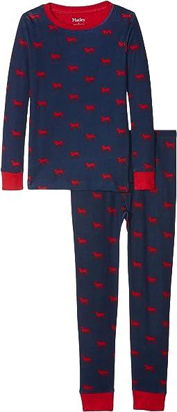 Red Labs Organic Cotton Pajama Set (Toddler/Little Kids/Big Kids)