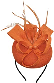 Women's Fascinator Hat Imitation Sinamay Feather Tea Party Pillbox Flower Derby