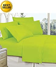 Mattrest Luxury Silky Soft - Wrinkle Resistant 1500 Thread Count Egyptian Quality Super Soft Fade Resistant 4-Piece Bed Sheet Set, Deep Pocket, King Lime