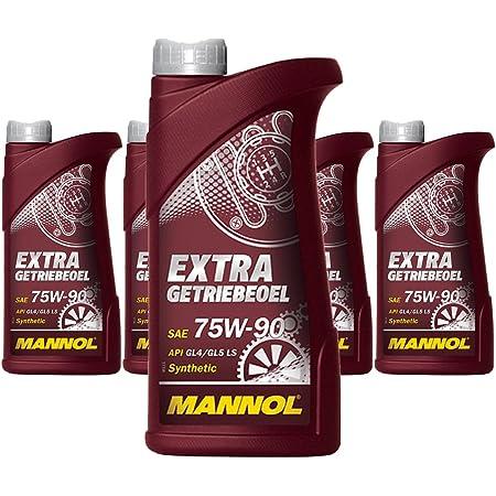 Mannol 5 X 1l Extra Gear Oil 75w 90 Api Gl 5 Ls Synthetic Manual Transmission Axle Oil Auto